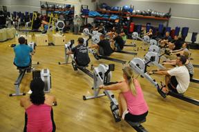 Indoor rowing class
