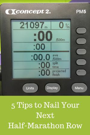 5 tips to help you nail your next half-marathon row #halfmarathon #indoorrowing #rowingmachine #ucanrow2 #rowing #endurance