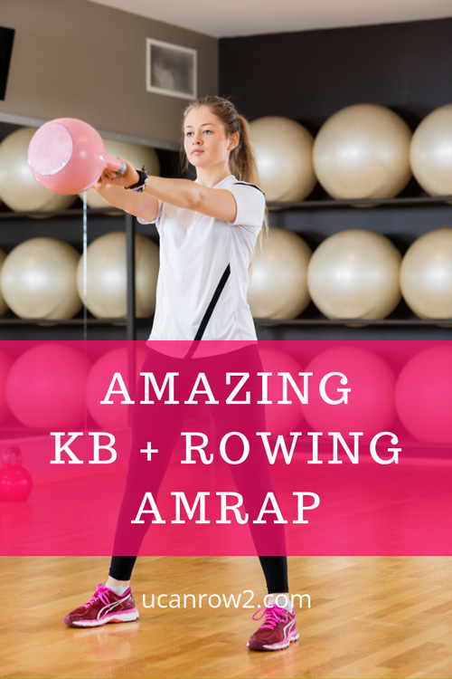 Swing it out rowing - kettlebell workout: A kettlebell rowing workout to get you sweating. All you need is a rower and one kettlebell. This is a great one to do in groups, too! Want more workouts to burn fat and build strength? Download our free workout set #GetFlyWheelFit: http://bit.ly/GetFlywheelFit #rowingworkout #rowing #kettlebells #crossfit #wod #intervaltraining #amrap
