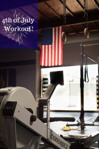 Try this Fourth of July workout on the 4th or any other day! 1776 meter row warmup, then do: 3-5 rounds: 76 cal row, ski or bike 7 burpees 6 manmakers. Or scale it to make it easier: 1776 meter row warmup, then do: 3-5 rounds 776 meter row, ski or bike 7 push-ups 6 squats 7 jumping jacks 6 sit-ups DONE! #rowingworkout #intervaltraining #indoorrowing #workout