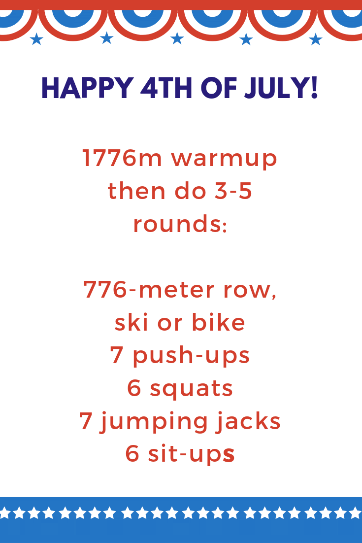 Make your Independence Day glory-ous with this 4th of July rowing workout! For more like this visit https://old.ucanrow2.com #ucanrow2 #rowingmachine #rowingworkouts